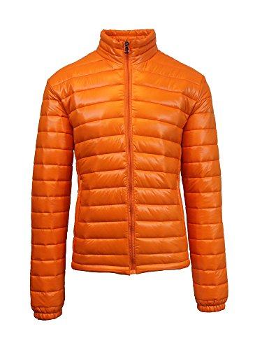Men's Spire by Galaxy Puffer Jacket Orange