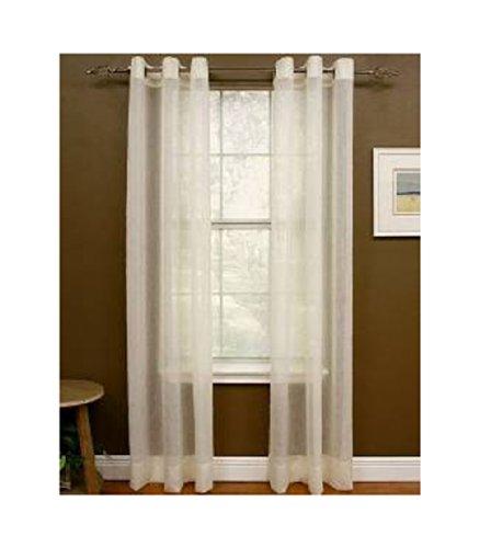 Preston Miller Ivory White Grommet Panel Curtain, Measures 48