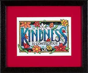 Kindness is Contagious Stamped Cross Stitch Kit