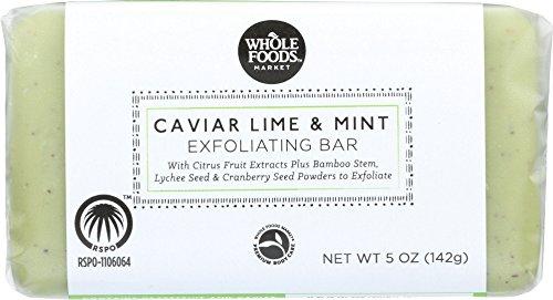 Whole Foods Market  Caviar Lime   Mint Exfoliating Bar  5 Oz