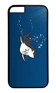 MOKSHOP Adorable funny shark teeth Hard Case Protective Shell Cell Phone Cover For Apple Iphone 6 Plus (5.5 Inch) - PC Black