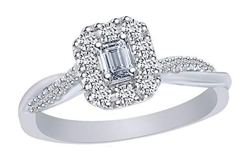 0.38 Ct Emerald Cut Diamond - 1