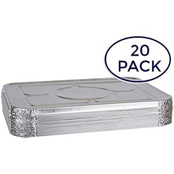 Amazon Com 50 Pack Heavy Duty Disposable Aluminum Oblong