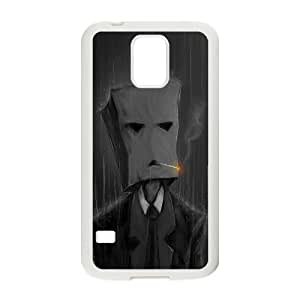 Smoking With A Paper Bag In The Rain Funny5 Samsung Galaxy S5 Cell Phone Case White WON6189218990359