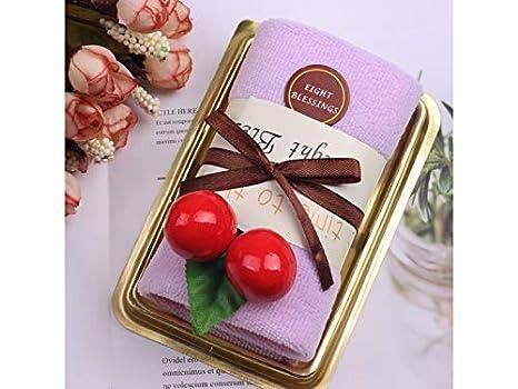 yter Cake Modeling toalla Cupcake toalla caja toallitas de baño facial mano toalla bebé ducha fiesta de Navidad toalla cadeau-violet: Amazon.es: Hogar