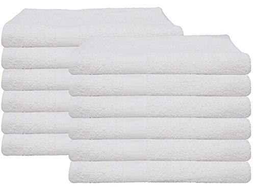 6 (1/2 Dozen) Cotton Economy Bath Towels Utility Grade 20x40 By OMNI LINENS