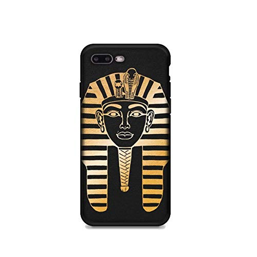 MISC Gold Black Egyptian Pharaoh iPhone 7 Case Ancient Egypt Themed 8 Cover Egyptian King Monarch Ruler God, TPU