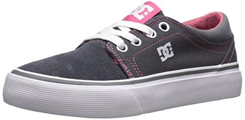 DC Trase TX Skate Shoe (Little Kid/Big (Dc Pink Skateboard Shoe)