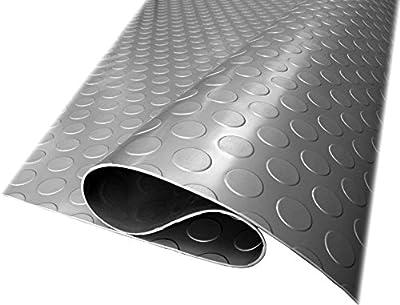 Herco 3' x 4' Raised Radial Coin Dot Vinyl Flooring Mat - Grey