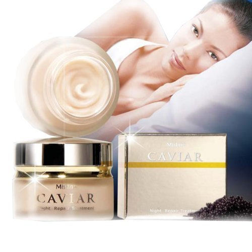 Serum Caviar Timeless Repair (Best Mistine Caviar Anti-aging Night Repair Treatment Cream 30 Grams : 2 Packs)