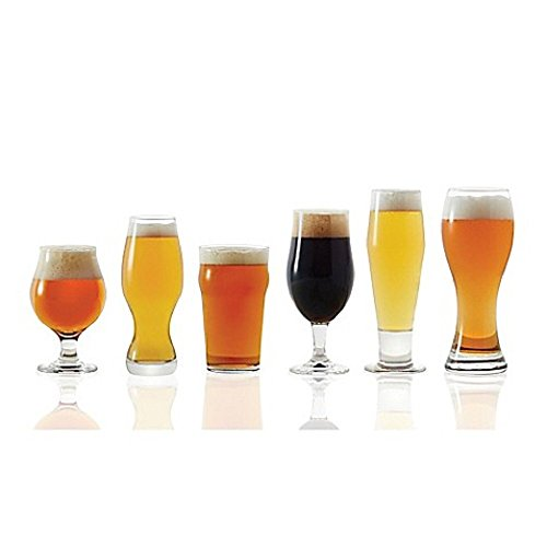 (Dailyware 6-Piece Assorted Craft Brew Beer Glass Set includes everything necessary for you and your guests to sample a wide variety of flavorful beers)