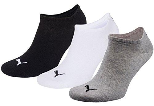 grey Puma da black 3 pacco Calzini 882 Unisex Sport white FFBqS