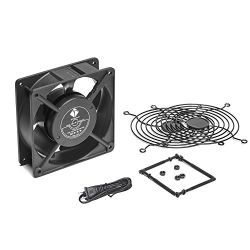 1238 Axial Fan AC 110V Cooling Fan,Muffin Fan Two Guards 4-Feet Power Cord DIY Cooling Ventilation Exhaust Projects by seventeck (Image #5)