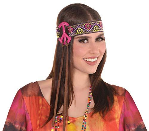 Adult Peace Sign Hippie Headband (Plastic Headband Peace)