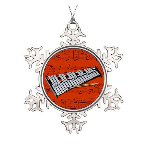 Delia32Agnes Ornament - Glockenspiel (Bells) - Pick Your Color Pewter Snowflake Ornaments for Christmas Decoration