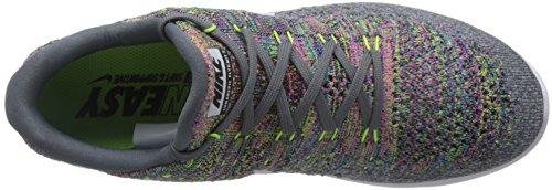 Nike Lunarepic Low Flyknit 2 Mens 863779-004 Bagliore Grigio / Bianco-volt-blu