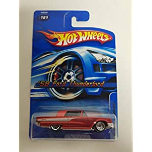 '58 Ford Thunderbird Red Color 2005 Editions Hot Wheels diecast car No. 181