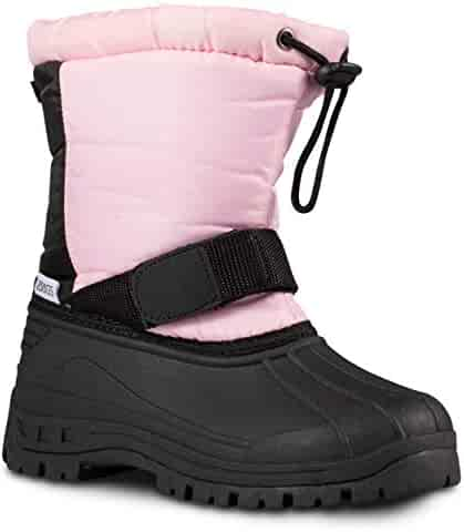 ZOOGS Kids Snow Boots for Girls and Boys; Youth and Toddler Snow Boots