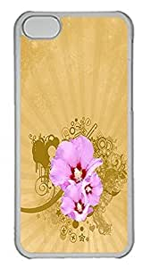 iPhone 5C Case Abstract Flowers 01 PC Custom iPhone 5C Case Cover Transparent