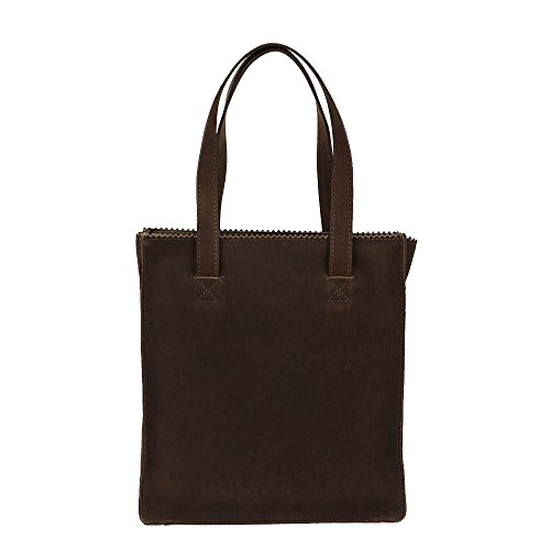 Burkely Mia Shopper small Braun, Borsa a spalla donna Marrone Marrone scuro one seize
