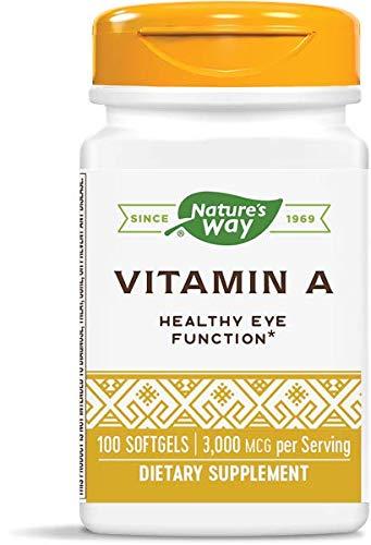 Nature's Way Vitamin A, 3,000 mcg per serving, 100 Softgels