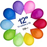 Toys : WinkyBoom Balloons Assorted Color 12 inches 110 Count Premium Quality Latex for Birthday Party Decorations