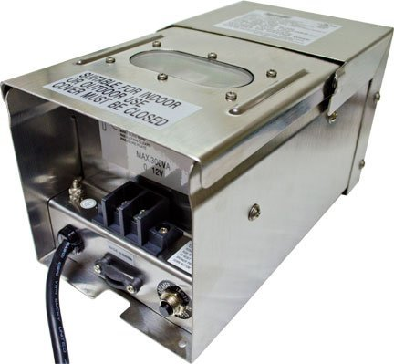 Dabmar Lighting LVT300-SS 300W Transformer with Timer/Photocell/Power Cord, Stainless Steel Finish