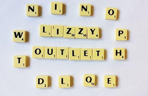 100 x qualité Plastique Noir Sur Ivoire Tuiles De Scrabble Artisanat De Bijoux Faisant Complet Ensemble par Lizzy Bargains Online BO-87-UX