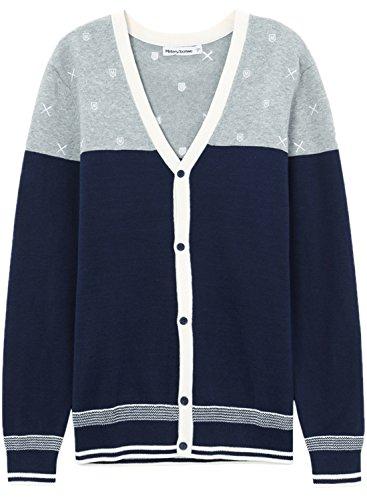 meters-bonwe-mens-v-neck-color-block-single-breasted-casual-cardigan-blue-m