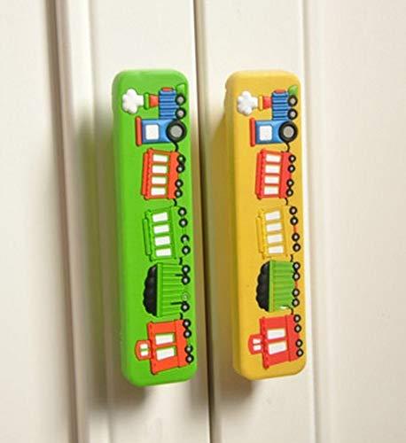 Soft Gum Drawer Gate Knob Handle Kids Bedroom Furniture Decorative Door Pull Wardrobe Closet Handles Children Dresser Pull 96mm