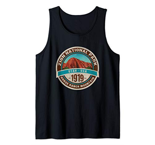 (Zion National Park Utah Horse Ranch Mountain Souvenir Tank Top)