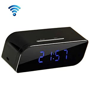 P2P Network Mini IP Camera H.264 HD 720P Wifi Clock Camera, Support Night Vision / Motion Detection by Tested-tec