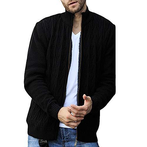 Lightweight Down Jacket Men. Men's Autumn Winter Collar Collar Plus Long Sleeved Knitted Coat
