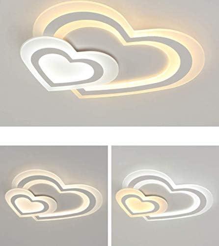 W48cm Bianco YSNJG Plafoniera A LED Moderna A Forma di Cuore in Acrilico con Oscuramento Remoto per Bambini Plafoniera Camera da Letto Cucina Luce Corridoio Bagno Luce L50
