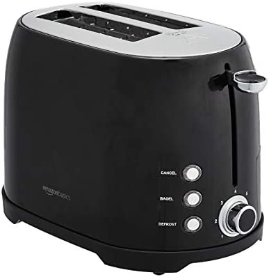 Amazon Basics 2-Slot Toaster, Black