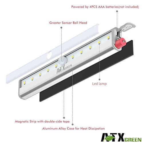 Closet Light Atxgreen Motion Sensor Night Light 3 Pack 10 Leds
