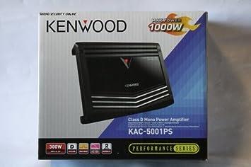 Kenwood KAC-5001PS 1000 Watt clase D amplificador de potencia con LPF Mono de Kenwood