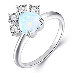 2020c72c5f Cat Dog Paw Rings for Women AAA Cubic Zirconia Rhodium Plated Halo Dainty  Ring Party Jewelry Christmas Day Gift Size 6 7 8 9  Amazon.ca  Jewelry