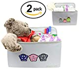 Pack of 2 Collapsible Nursery Storage Bins/Diaper Caddy...
