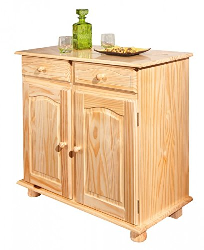 Erst-Holz Credenza Stile Country in Pino Eco con 2 cassetti ...