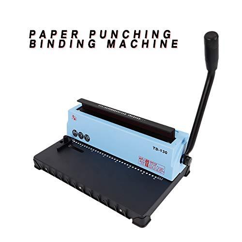 (Hole Puncher TBVECHI Spiral Coil Calendar Binding Machine 34 Hole Punching Binding Machine)