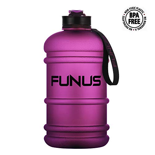 Traditional Water Drinking (FUNUS Water Jug 1.3-2.2L Water Bottle Huge Big Capacity Leak Proof BPA Free Large Water Jug for Workout Fitness Gym Outdoor Hiking Sport Half Gallon Water Jug (2.2L Frosted Plum))