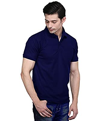 e8683593 PSK EXPORTS Dark Blue Men's Polo T-Shirt