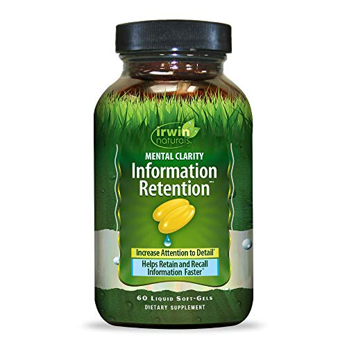 Mental Clarity Information Retention by Irwin Naturals, Boost Memory and Focus, 60 Liquid Soft-Gels