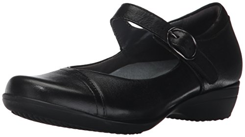 Dansko Women's Fawna Mary Jane Flat,Black Milled Nappa,39 EU/8.5-9 M US