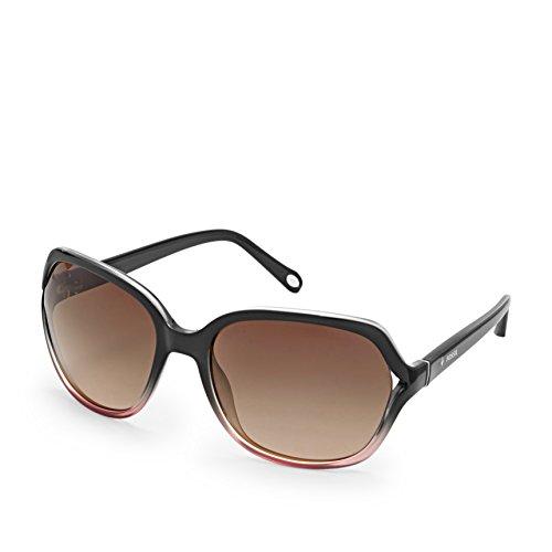 Fossil Fos3020s 0ex5 Jesse Rectangle Sunglasses - Shiny Dark - Fossils Sunglasses