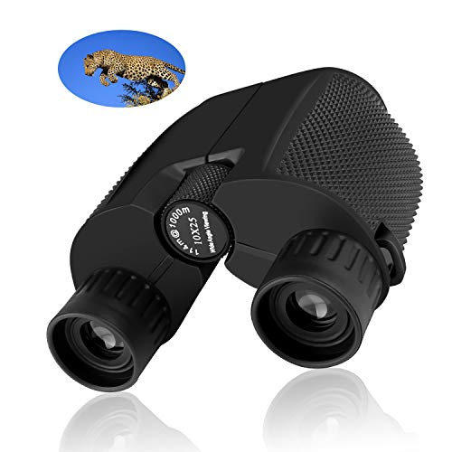 ShaWuJing 10×25 Folding High Powered Binoculars With Weak Light Night Vision Clear Bird Watching Great for Outdoor Sports Games and Concerts