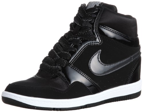 Nike Womens Force Sky High Top Hidden Wedge Fashion Sneakers -Black/Anthracite (7.5) (High Top Nike Shoes compare prices)