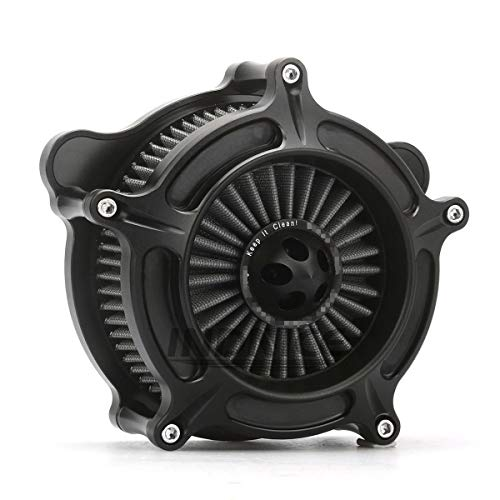 CNC Deep cut Black spike Air Cleaner Kit harley road king air filter electra glide air cleaner road glide air intake system electra glide 17-18 -