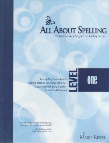 All About Spelling The Multisensory Program for Spelling Success Level One